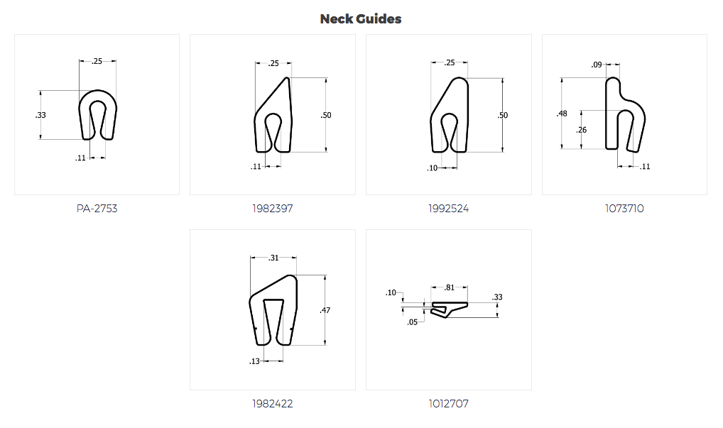 Spiratex Neck Guides Specs