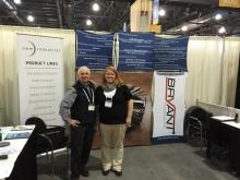 Owen and Tamara at Bryant stand at Expo